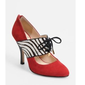 "Isola ""Isabel"" black/leopard Heels Size 7 NEW"